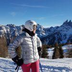 Danielle skiën